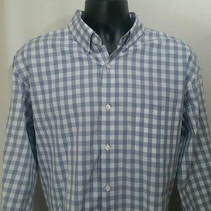 J.CREW Gray Checked Oxford Shirt Size XL